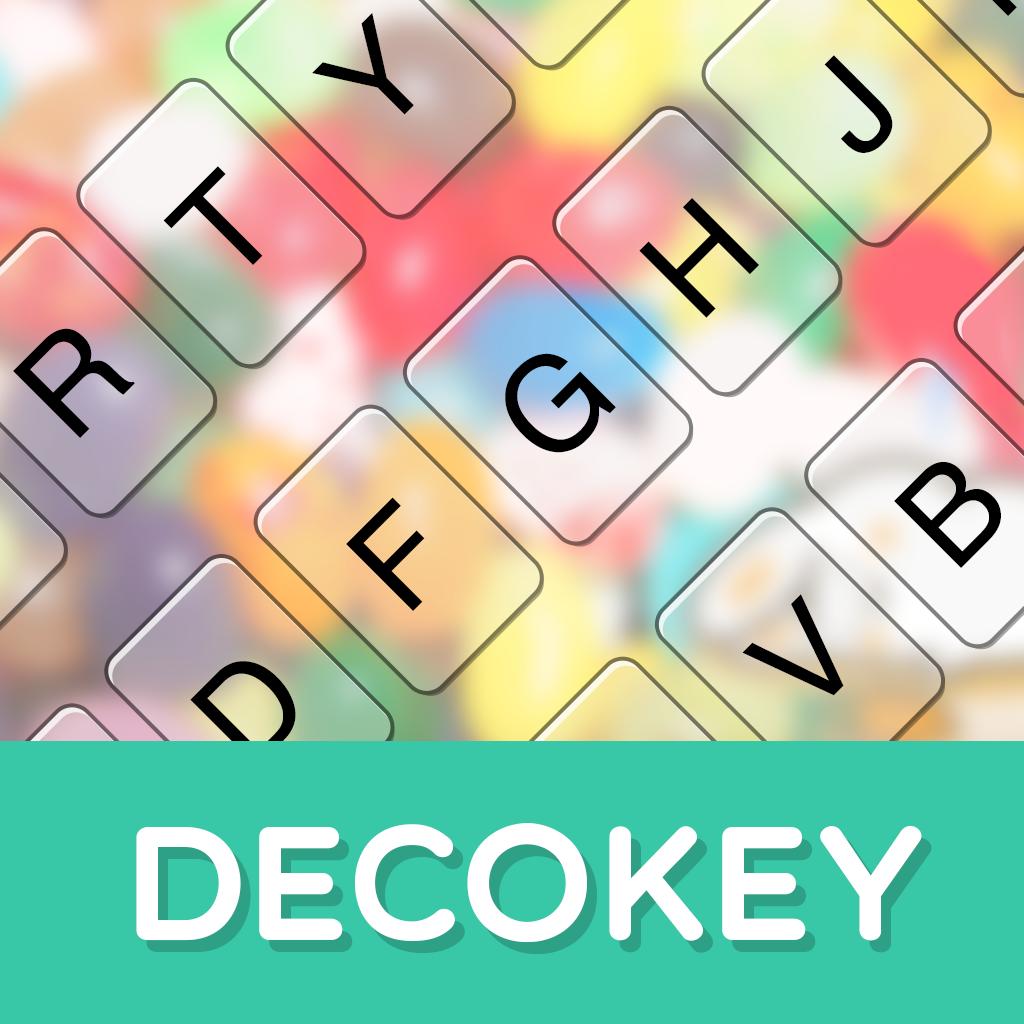 DECOKEY-背景・ボタン・フォントを変更できる日本語・英語入力&顔文字・絵文字キーボード